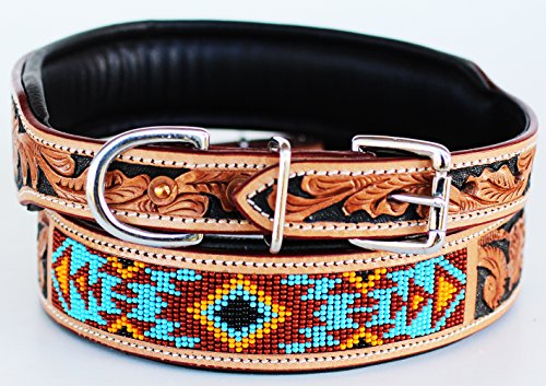 XSmall 9''- 13'' Dog Puppy Collar Cow Leather Adjustable Padded Canine 6084 - Barrel Racing Basics