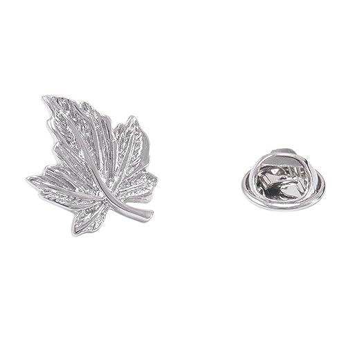 e5f67fce9c1b Classic Silver Maple Collar Brooch Lapel Pin for Unisex: Amazon.ca: Jewelry