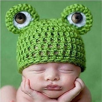 Gorro de rana amyjazz para recién nacido, de ganchillo tejido a ...