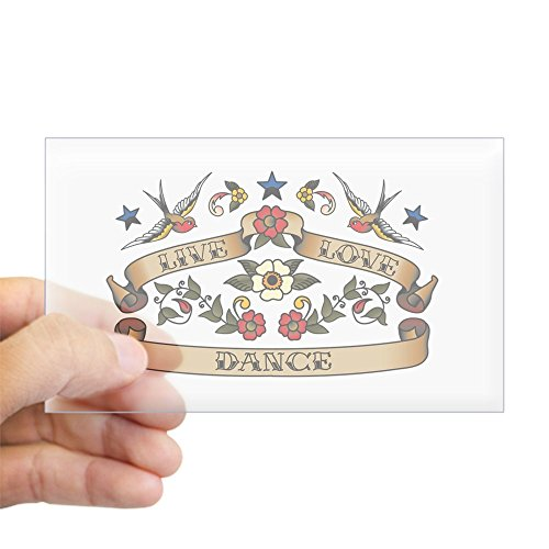 CafePress Live Love Dance Rectangle Sticker Rectangle Bumper Sticker Car ()
