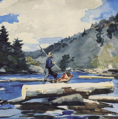 Battle Road Press Hudson River Logging By Winslow Homer - 500 Piece Puzzle