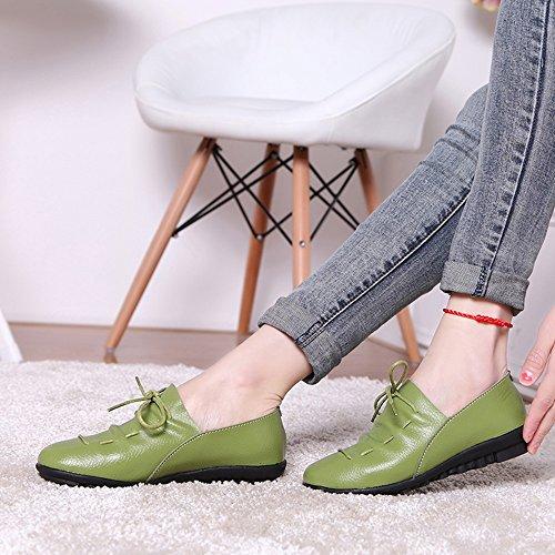 XIA&Sportschuhe Erbsen Schuhe Frühling flach mit weichen Boden Casual Single Schuhe mehrere Farben erhältlich Ms 2