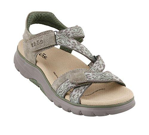 Sandal Footwear Sandals - Taos Footwear Women's ZEN Grey/Sage Sandal 9 B 9 (M) US