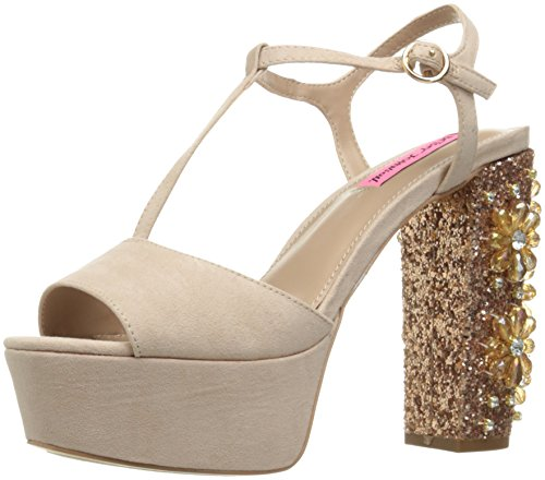 Betsey Johnson Womens Ferra Dress Sandal Blush Multi Yz5wsz0