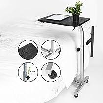 FurnitureR Portable Side End Table Adjustable Hight Laptop Desk Cart Sofa Overbed Computer Stand Desk Tray