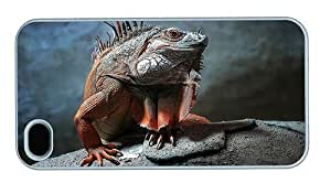 Hipster customized iPhone 4S covers Iguana PC White for Apple iPhone 4/4S