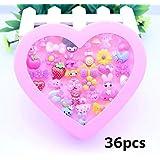 かわいい おもちゃの指輪セットおもちゃ 子供女の子プレゼント 縁日 景品 お祭り(36個セット)