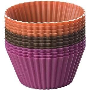 Chicago bakeware Essentials de horno de silicona para cupcakes, 12 unidades, diseño de jardín, césped, Mantenimiento