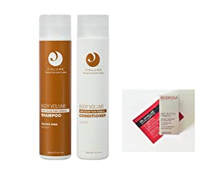 Colure True Color Care BODY VOLUME Shampoo & Conditioner DUO 10.1 oz each + 2 Free Samples. Products are Vegan, Cruelty Free, Organic. FREE of Sulfates, Parabens, Dyes, Petrolatum, Wheat & Soy.