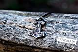 Thor's Hammer Mjolnir Pendant Viking Amulet Sterling Silver Necklace Scandinavian Pendant Norse Jewelry (Scania island)