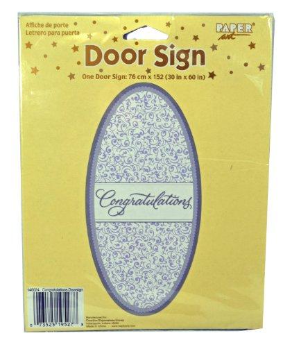Congratulations Door Cover Sign Wedding Shower Party Decorat