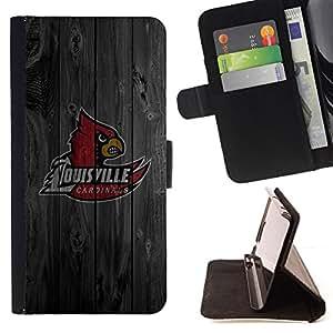 - Louisville Cardinal Basketball - - Prima caja de la PU billetera de cuero con ranuras para tarjetas, efectivo desmontable correa para l Funny HouseFOR Samsung Galaxy Note 4 IV