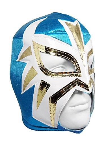 LA MASCARA Adult Lucha Libre Wrestling Mask (pro-fit) Costume Wear - Powder Blue -
