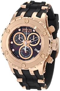 Invicta Women's 0534 Reserve Chronograph Black Dial Black Polyurethane Watch