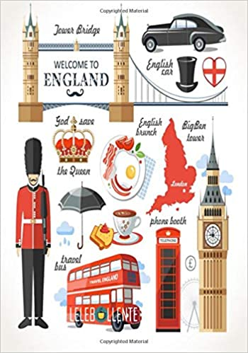 Welcome To England Perfect Travel Journal Notebook With Great