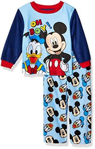 Disney Boys' Toddler Mickey Mouse 2-Piece Pajama Set, Best Buds, 2T