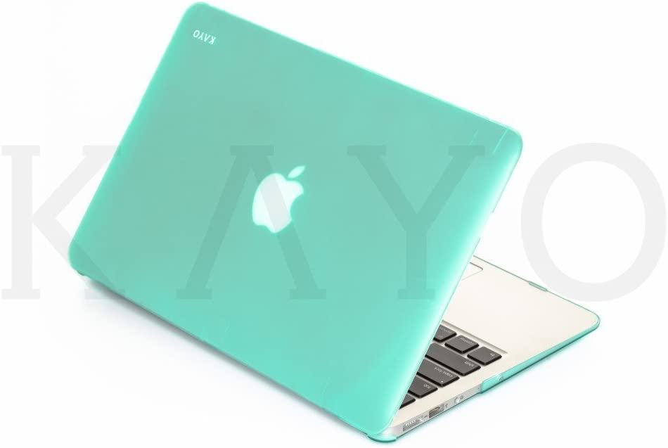 "KAYO - AIR 11-inch Rubberized Hard Case for Apple MacBook Air 11.6"" (A1465 & A1370) Cover Shell - (Carribean Green)"