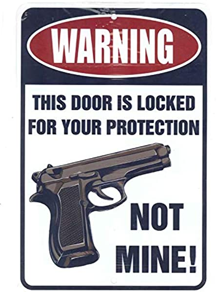Decal Sticker Gun This Door Is Locked for Your Protection