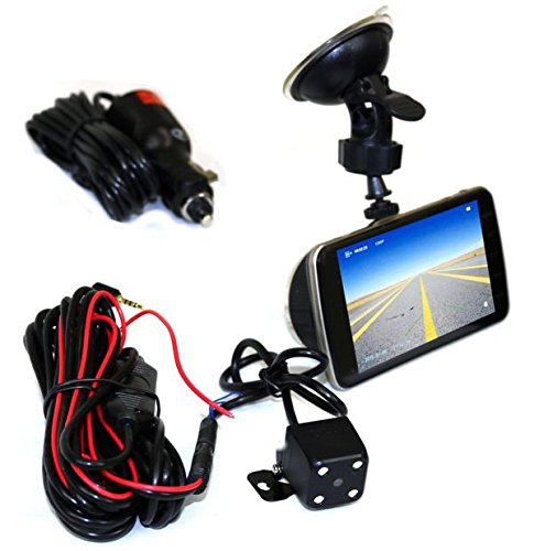 Universal Four-in Car Monitor With Full High Definition 1080p Car Digital Video Event Recorder With Two Cameras And Snap Photo Capability With Infrared Illuminator DEEJAY LED TBHCG2719
