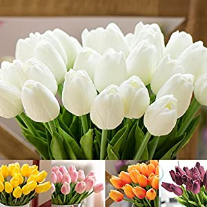 Umiwe 10/30Pcs PU Fake Artificial Silk Tulips Flores Artificiales Bouquets Party Artificial Flowers For Home Wedding Decoration 2