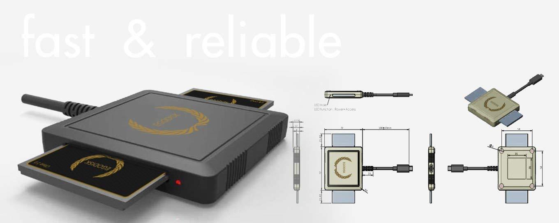 EgoDisk Dual CFast 2.0 Reader (Data Transfer Rate up to 10gbps | for Maximum Speed SuperSpeed use USB 3.1 Gen 2 or Thunderbolt 3 | USB Backward Compatible | Type-C) by EgoDisk (Image #2)
