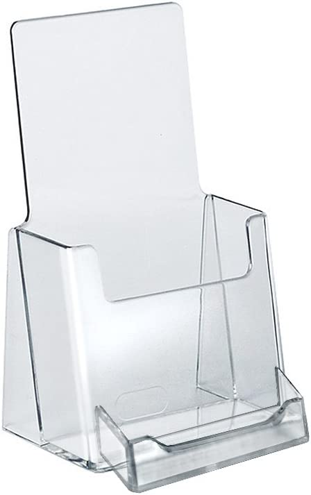 Azar 252922 Counter Trifold Brochure Holder with Business Card Pocket, 10 Pack