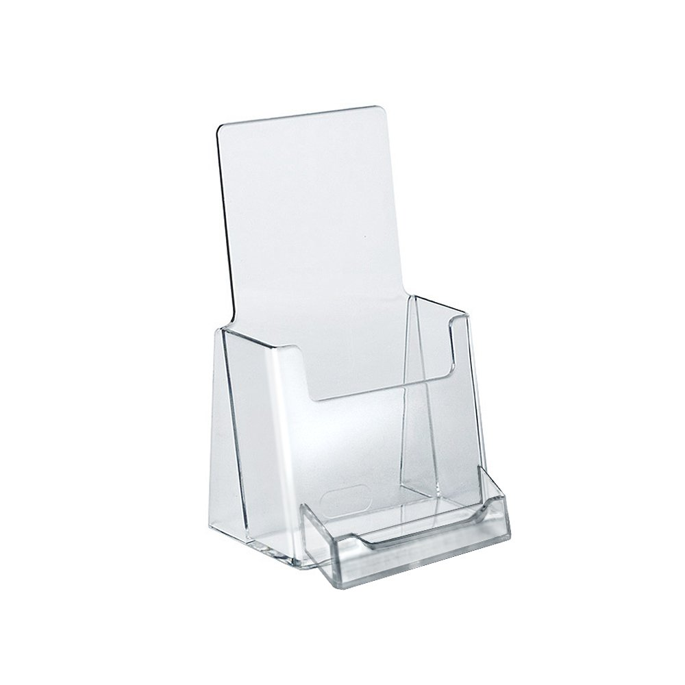 Azar 252922 Counter Trifold Brochure Holder with Business Card Pocket, 10 Count