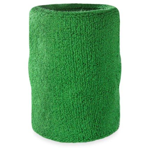 Suddora Arm Sweatband - Athletic Cotton Armband (Green)