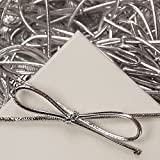 6 inch Silver Stretch Loops Shiny Metallic Braided Elastic Cords pack of 100