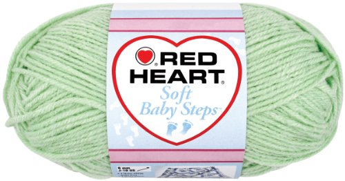Red Heart Soft Baby Steps Yarn, Baby Green