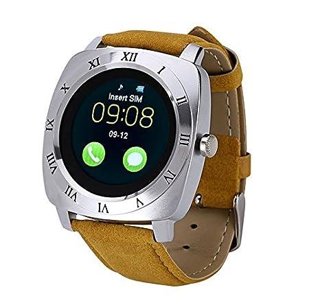 AlbitaStore SmartWatch X3 Multi-idioma Bluetooth reloj inteligente con cámara, TF / tarjeta SIM ranura Sleep monitor ...