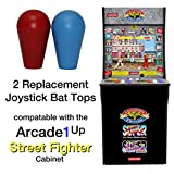 RetroArcade.us ra-js-topball-1up-kit arcade1up Street Fighter 2 Galaga Rampage Pacman 2 Joystick bat top Handles