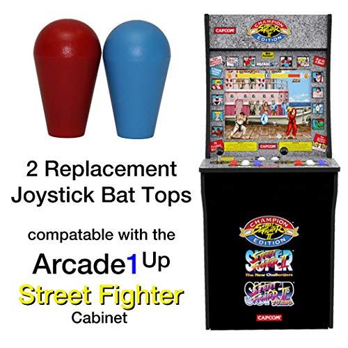 RetroArcade.us ra-js-topball-1up-kit arcade1up Street Fighter 2 Galaga Rampage Pacman 2 Joystick bat top Handles (Best Street Fighter 2)