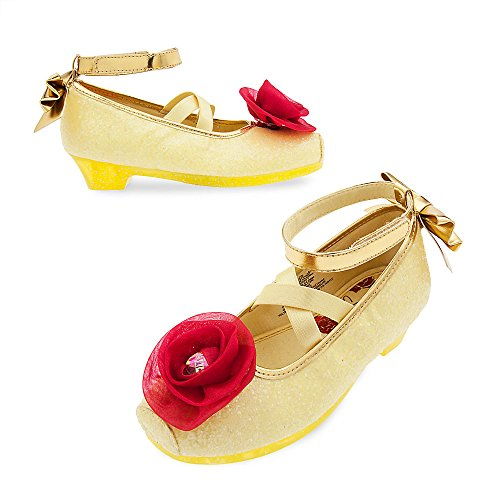 Beau Shoes (Disney Belle Costume Shoes For Kids Size 7/8 Yellow)
