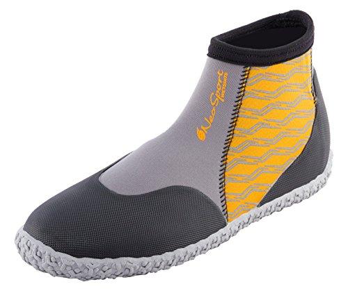 NeoSport Premium Neoprene Low Top Pull On Boot Wetsuit, Orange, Size 13/3mm (Henderson Neoprene Boot)