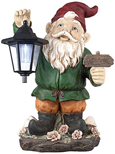 Welcome Gnome with Lantern 16