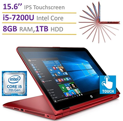 2017 Newest HP Pavilion 15.6'' X360 2-in-1 Touchscreen IPS FHD (1920 x 1080) Laptop PC, Intel i5-7200U 2.5GHz Processor, 8GB RAM, 1TB HDD, Backlit Keyboard, WIFI, HDMI, Bluetooth, Windows 10
