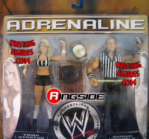 TRISH STRATUS and SHAWN MICHAELS - WWE Wrestling Adrenaline Series 20 Figure ...]()