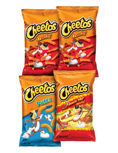 Cheetos Cheese Flavored Snacks, Variety Pack, 38