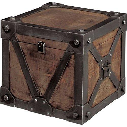 ビンテージ風スタイルトランク 収納ケース 【Mサイズ】 幅76cm 木製 『Traver Furniture』 B0778F6WW5 トランクM  トランクM