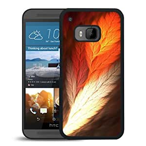 Hot Sale HTC ONE M9 Cover Case ,Feather Art Black HTC ONE M9 Phone Case Unique And Fashion Design