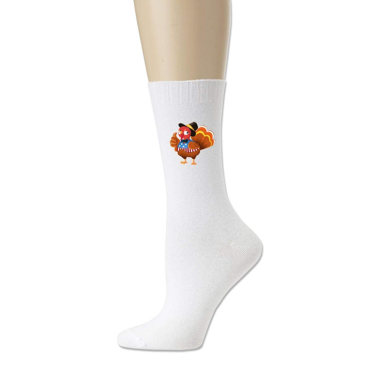 Women High Ankle Cotton Crew Socks Flag Of The United States Casual Sport Stocking