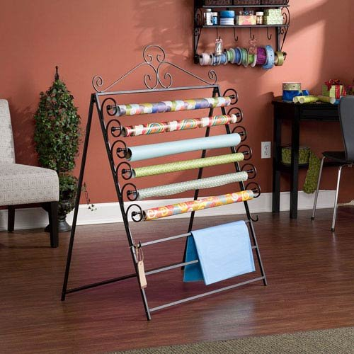 Southern Enterprises Easel Wall Mount Craft Storage Rack Black (Large Image)