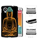 Buddha Statue In Orange Cyan Neon Hard Plastic Snap On Cell Phone Case LG Nexus 5