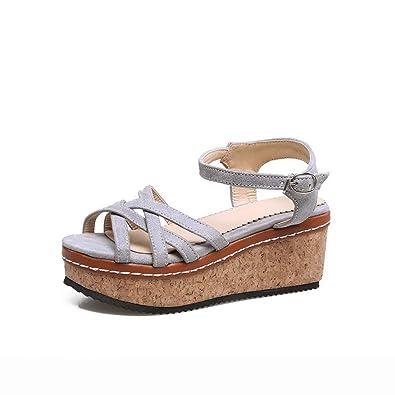 couleurs et frappant top design codes promo Inconnu 1TO9 MJS03885 Chaussures compensées Confortables ...