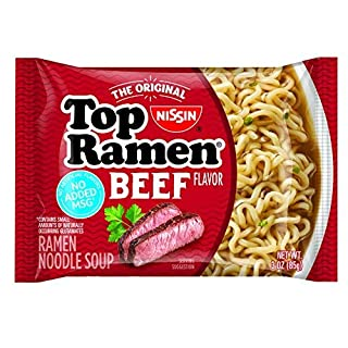 Nissin Top Ramen, Beef, 3 Ounce, 24 Count-SET OF 2