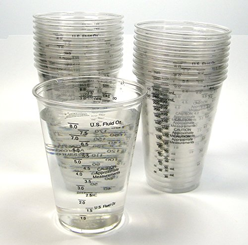 Disposable Graduated Clear Plastic Mixing