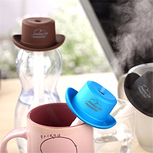 Portable Mini USB Humidifier Water Cowboy Cap Air Diffuser Fresher Mist Maker For Office Home (Essex Whole House Humidifier compare prices)