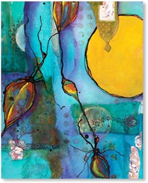 nr Estilo Minimalista Abstracto Color Fuerte Efecto de Arte Carteles e Impresiones de Lienzo Cuadros de Pared para Sala de estar50x70cm sin Marco