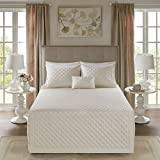 Madison Park Breanna 4 Piece Tailored Bedspread Set Ivory Full/Queen